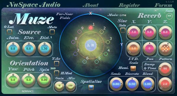 NuSpace Audio releases Muze: Binaural Reverb/3D Panner-Mixer