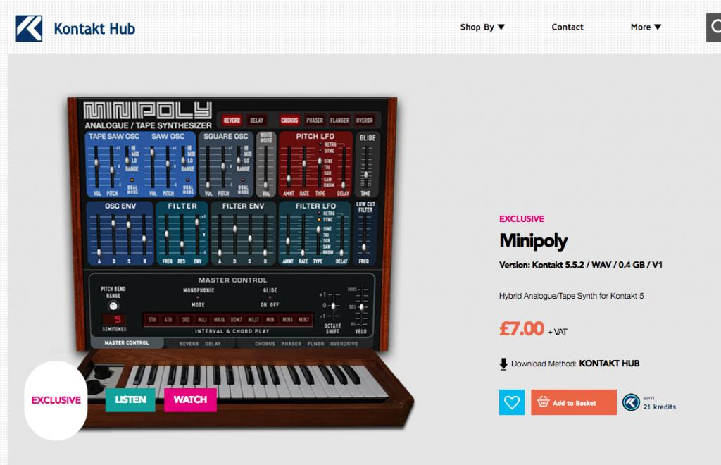 Out Now: Minipoly Analogue/Tape Synth for Kontakt - Gearslutz