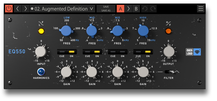 Overloud releases the EQ550 Gem and gives away 1000 free licenses each day for 1 week