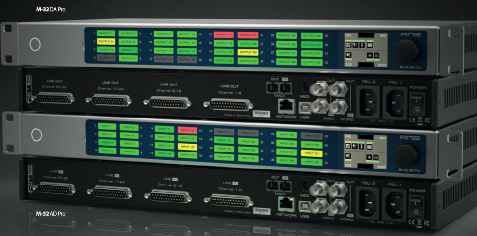 RME Debuts New M-32 Pro AVB Series of Converters