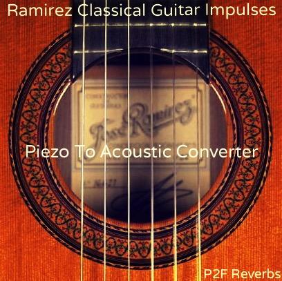 Ramirez classical guitar impulses (piezo to acoustic converter)
