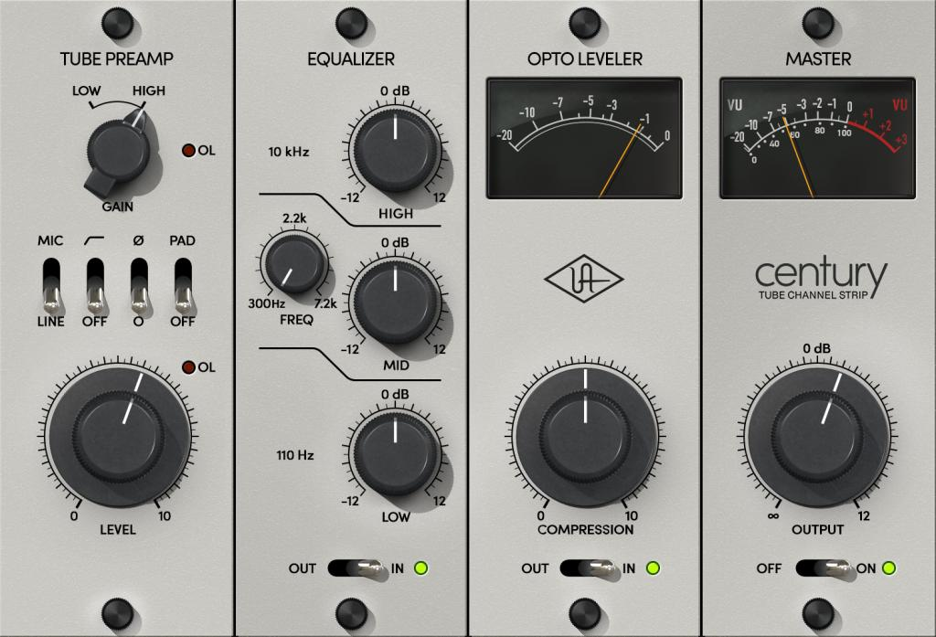 Universal Audio Releases Century Tube Channel Strip Plug-In
