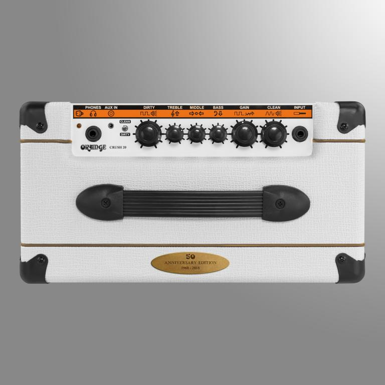 orange amplification releases 50th anniversary limited edition white crush 20 gearslutz. Black Bedroom Furniture Sets. Home Design Ideas