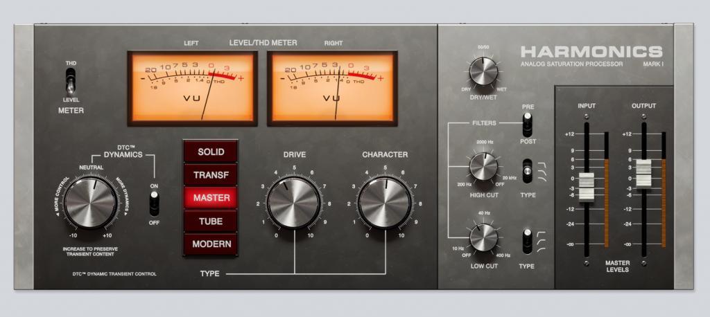 Softube releases Harmonics Analog Saturation Processor