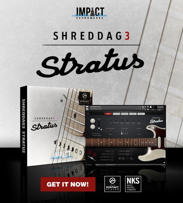 Impact Soundworks presents SHREDDAGE 3 STRATUS