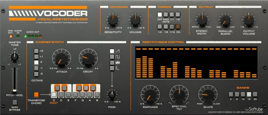 Universal Audio releases Softube Vocoder Plug-In - Gearslutz