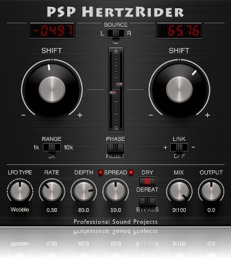 PSP introduces HertzRider frequency shifter plug-in - Gearslutz