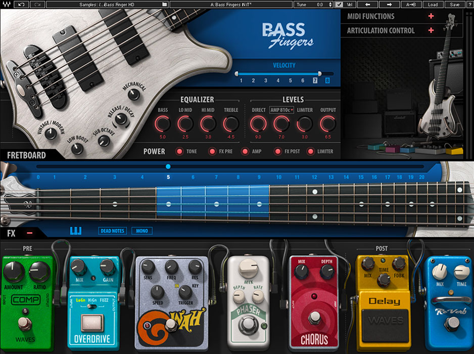 Waves Audio Introduces the Bass Fingers Plugin - Gearslutz