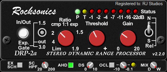 RJ Studios releases DRP2a Dynamic Range Processor v2.2.0