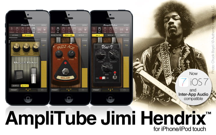 AmpliTube Jimi Hendrix for iPhone/iPod touch