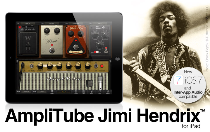 AmpliTube Jimi Hendrix for iPhone and  iPad
