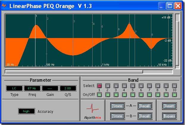 LPEQ Orange Phase Linear EQ