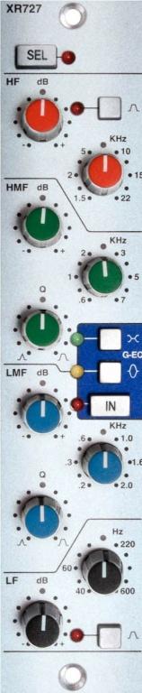 XR727 Stereo EQ for X-Rack