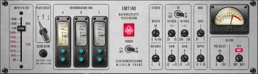Universal Audio EMT 140 Classic Plate Reverberator Plug-In