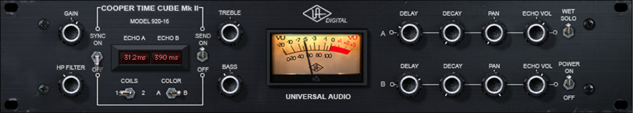 Universal Audio Cooper Time Cube Mk II Delay Plug-In