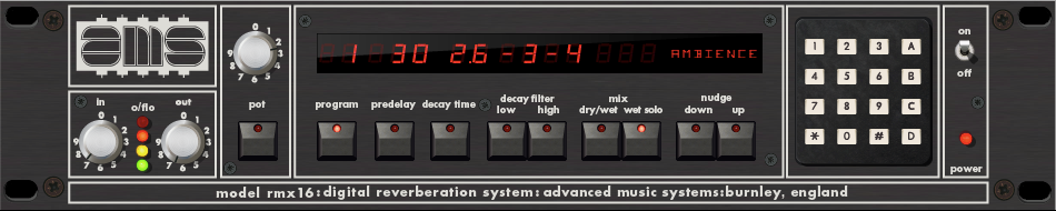 AMS RMX16 Digital Reverb Plug-In