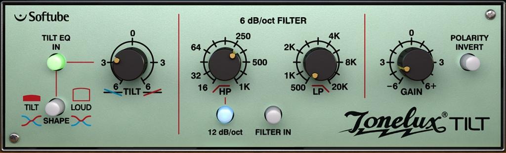 Tonelux Tilt EQ Plug-in