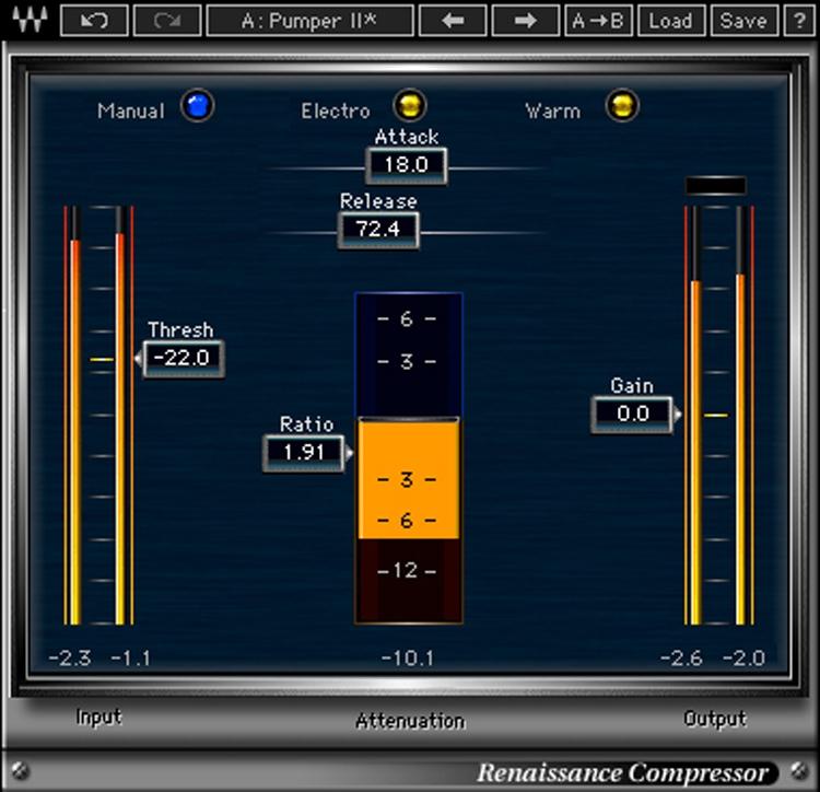 Waves renaissance compressor plug-in (download).