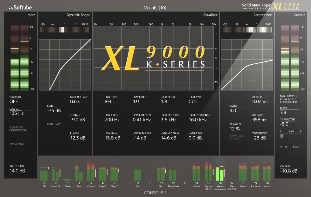 Solid State Logic XL 9000 K-Series for Console 1
