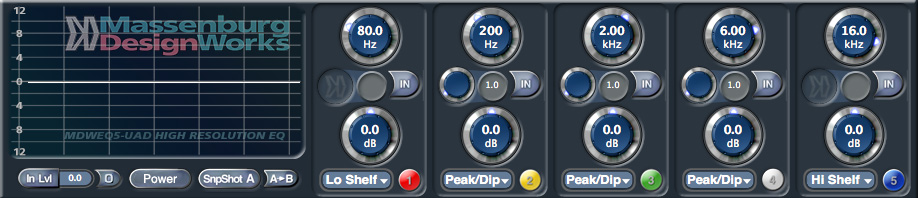 (MDW) Hi-Res Parametric EQ