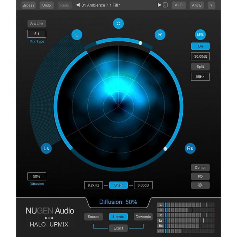 Halo Upmix Stereo to 5.1 & 7.1