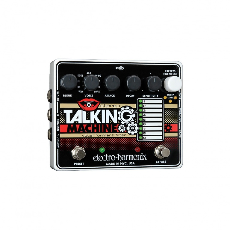 Stereo Talking Machine Vocal Formant Filter Pedal