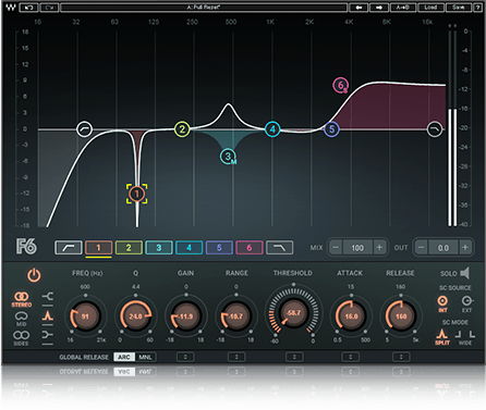 Waves Audio F6 Floating-Band Dynamic EQ