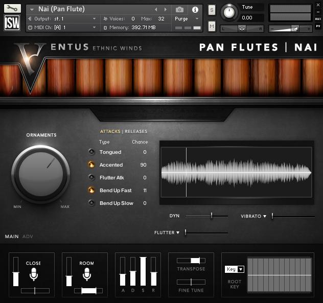 Impact Soundworks Ventus Ethnic Winds - Pan Flutes