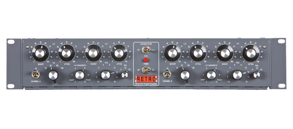 2A3 Dual Channel Tube Program Equalizer