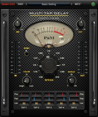 Plug & Mix Multi-Tap Delay