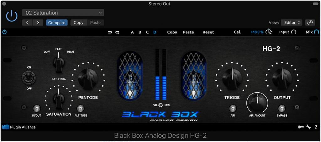 Black Box Analog Design HG-2 Native Plugin