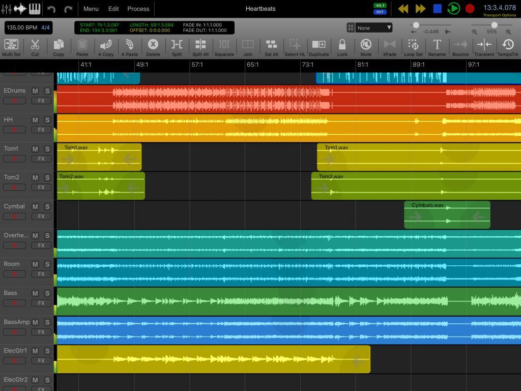 Auria 48 track mixer iPad app