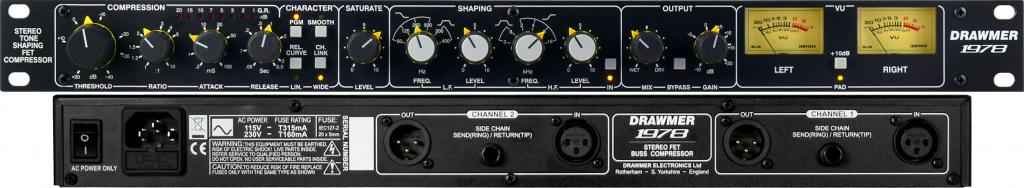 Drawmer 1978 - Stereo Tone Shaping FET Compressor