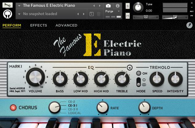 The Famous E Electric Piano