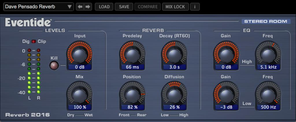 2016 Stereo Room Native Reverb Plug-in