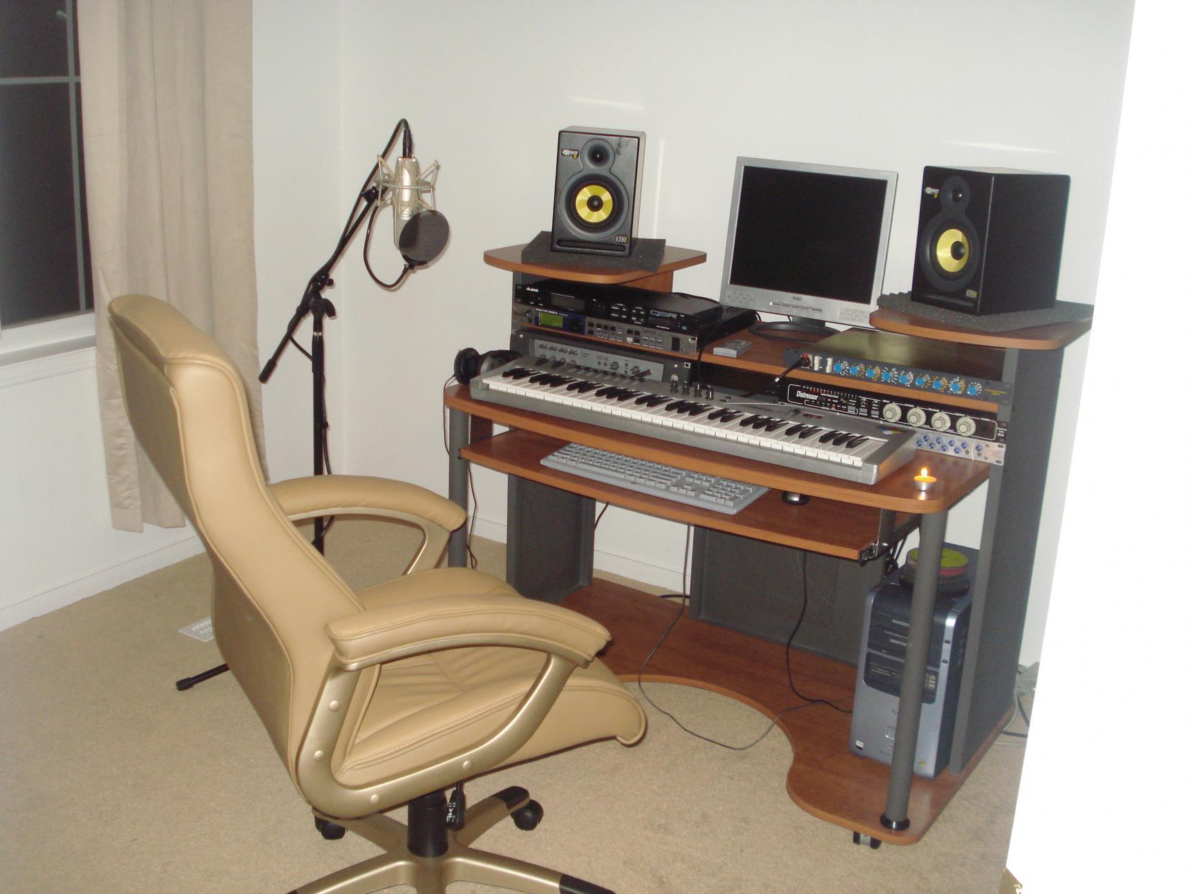 common home studio setup home recording studio pinterest. Black Bedroom Furniture Sets. Home Design Ideas