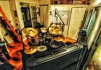 Pictures of Mic'ed Up Drum Kits Captured On Location or During Live Concert Scenarios-09-view-rear-corner-looking-towards-kitchen-area.jpg
