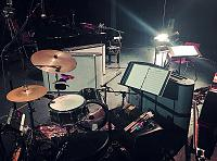 Pictures of Mic'ed Up Drum Kits Captured On Location or During Live Concert Scenarios-13-check-out-cozy-setup-video-shoot-we-worked.jpg
