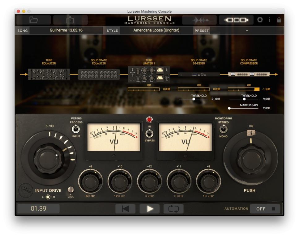 IK Multimedia Lurssen Mastering Console