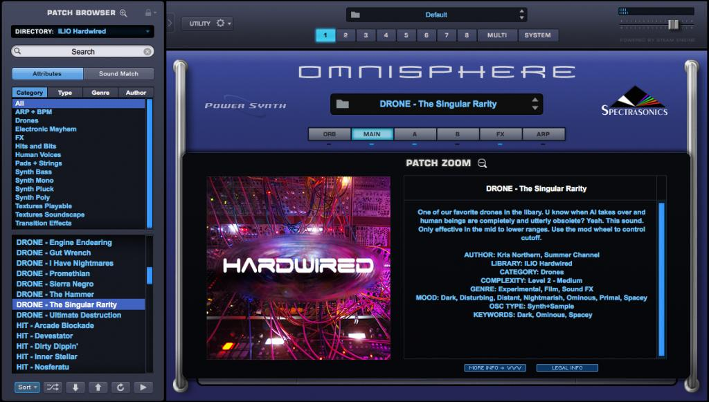 ILIO releases 'Hardwired' patch library for Omnisphere 2 - Gearslutz