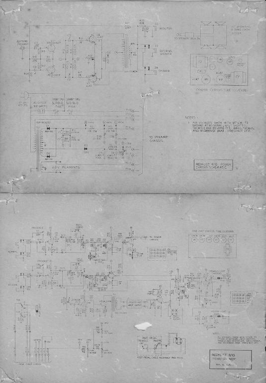 D How Ground Old Guitar Amp Medalisty Schematic Small