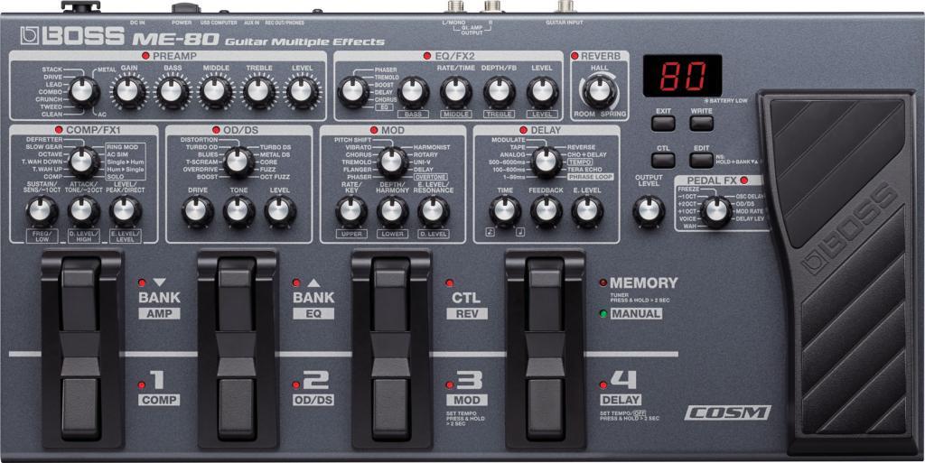 namm 2014 boss me 80 guitar multiple effects gearslutz pro audio community. Black Bedroom Furniture Sets. Home Design Ideas