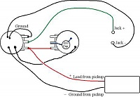 272381957654 as well Wiring the CTS DPDT Push Pull Pot together with 985234 Harmony H1 H601 Lap Steel Guitar Wiring Diagram 2 as well EP 4146 000 Wiring Kit For Gibson SG Guitars p 1372 besides Page 11. on guitar pots wiring diagram