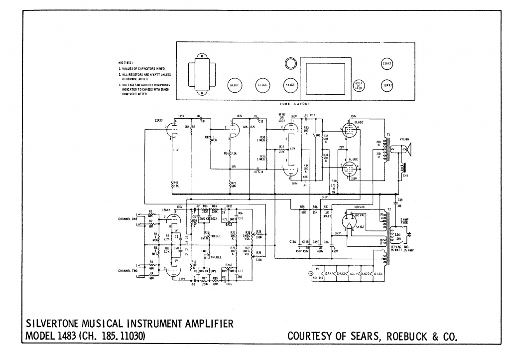 transformer inside speaker cab silvertone gearslutz pro audio community