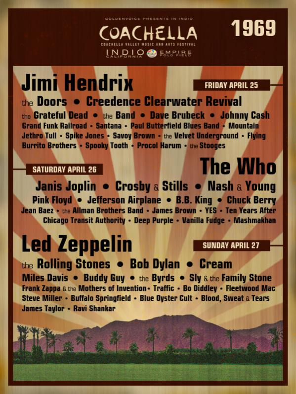 the absolute best festival lineup ever on planet earth