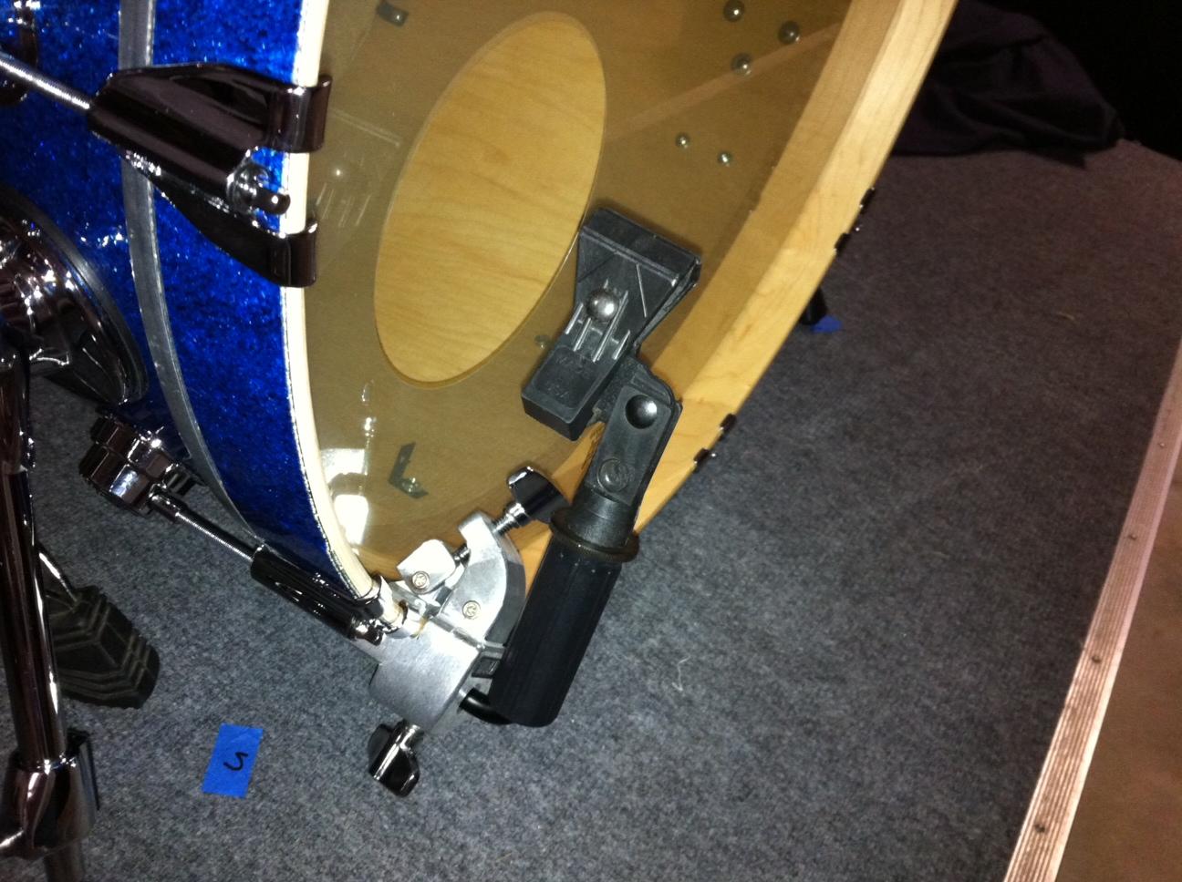 bass drum microphone rim hoop mount. Black Bedroom Furniture Sets. Home Design Ideas
