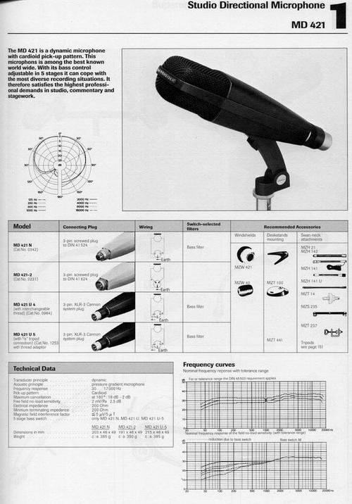 Sennheiser Md421 Hl Wiring Diagram  Anyone