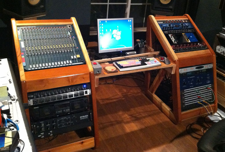 Show me your homemade or custom made console or studio furniture ...