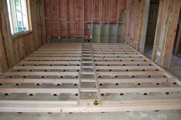 Concrete floor in tracking room for How to build a garage floor