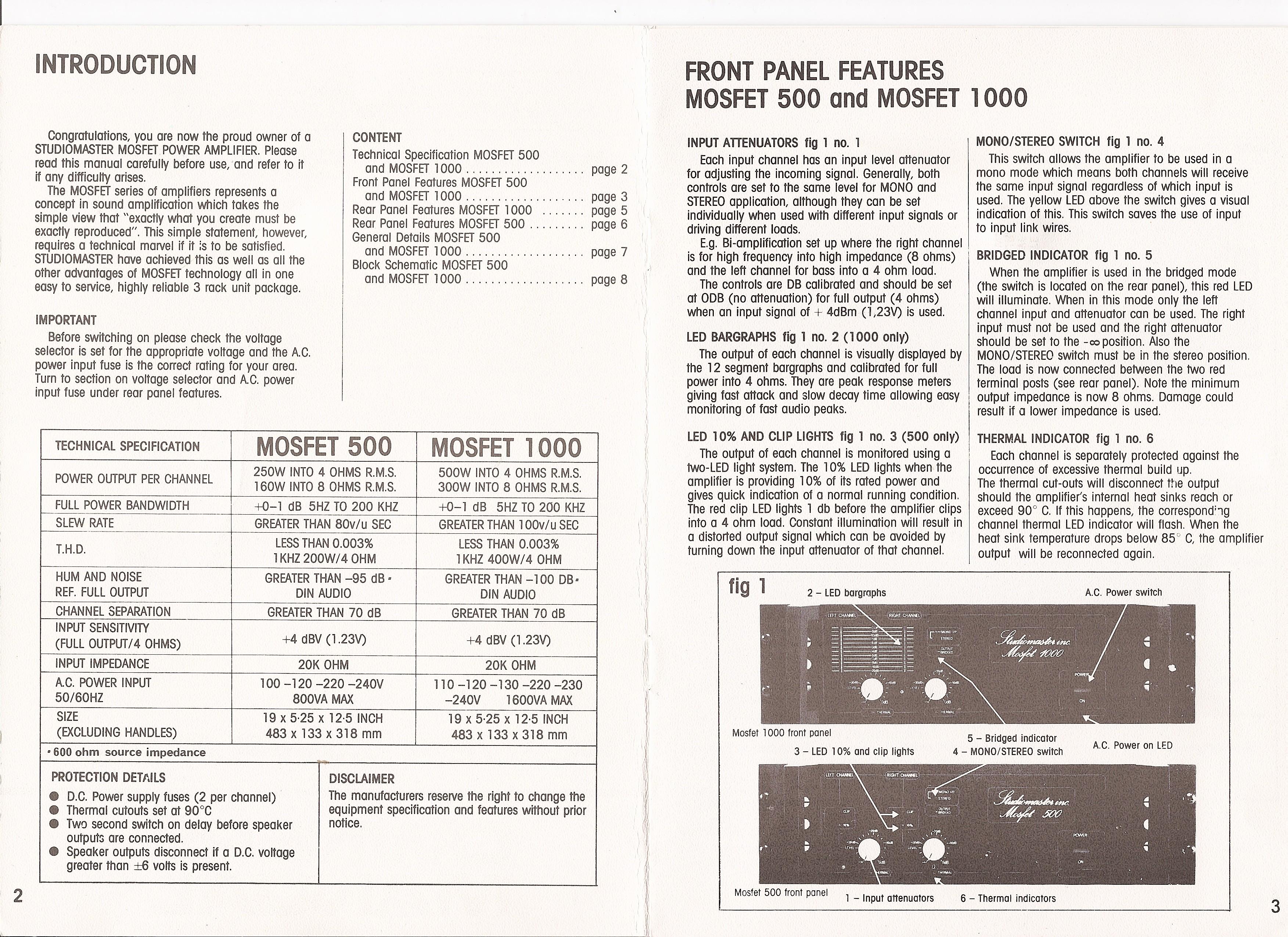 Studiomaster Power Amplifier Gearslutz Mosfet Amp 764